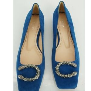 Authentic Gucci blue dionysus suede flats